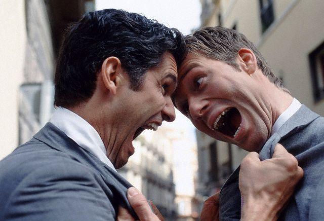 Businessmen fighting June 4, 2001
